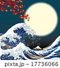 大波 ベクター 紅葉のイラスト 17736066