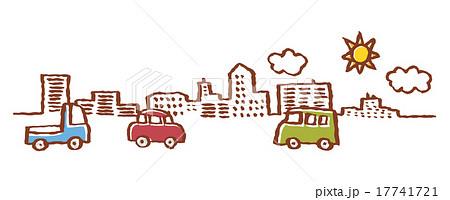 建物と車と空 17741721