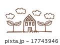 家と植物 17743946