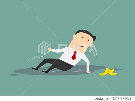 Businessman slipped on a banana 17747918