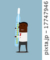 Black businessman with large thermometer 17747946