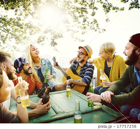 Diverse People Hanging Out Garden Concept