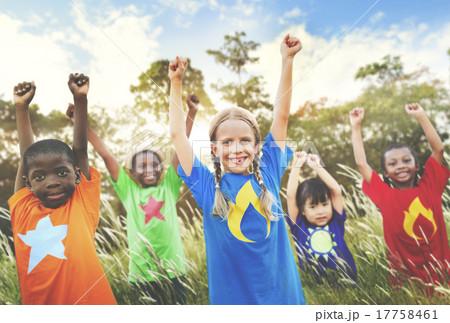 Children Playful Friendship Friends Child Concept