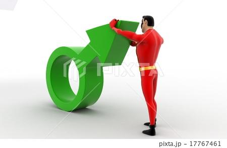 3d superhero with silver male symbol conceptのイラスト素材 [17767461] - PIXTA