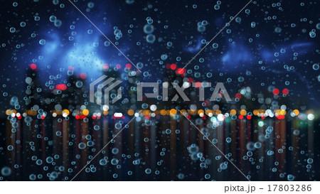 rain and blurred night city 17803286