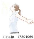 深呼吸する女性 17804069