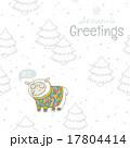 冬 ベクトル ひつじのイラスト 17804414