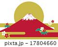 年賀状 年賀状素材 赤富士のイラスト 17804660
