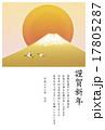 幻の富士山と鶴 謹賀新年  (平成28年度) 白ふち付き 17805287