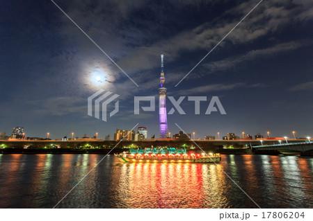スーパームーンと東京スカイツリー 17806204
