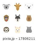 動物の顔 セット 17806211