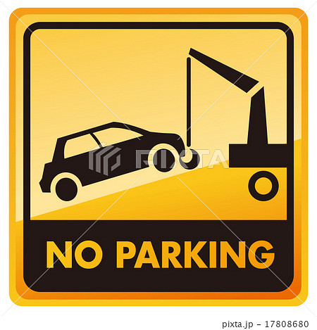 no car no parking sign Vector 17808680