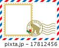 エアメール風年賀(フォトフレーム付き) 17812456