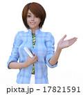 案内する女性美容師 perming 3DCGイラスト素材 17821591