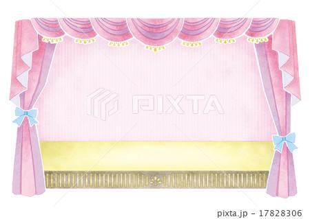 幕・カーテンのイラスト 17828306