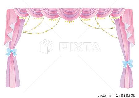 幕・カーテンのイラスト 17828309