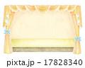 幕・カーテンのイラスト 17828340