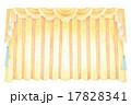 幕・カーテンのイラスト 17828341