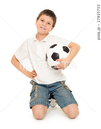 soccer boy studio isolated 17835755