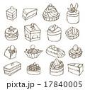 ケーキのセット 17840005