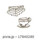 ケーキとティーカップ 17840280