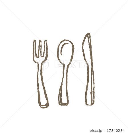スプーンとフォークとナイフ 17840284