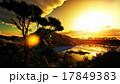 湖 夕方 夕のイラスト 17849383