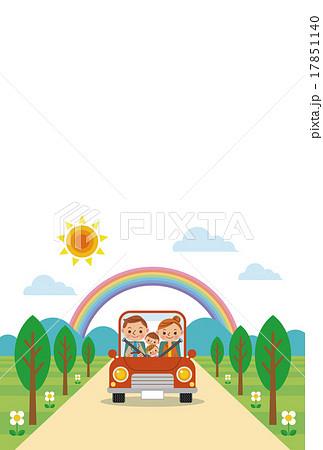 ドライブを楽しむ家族(春・夏) 17851140