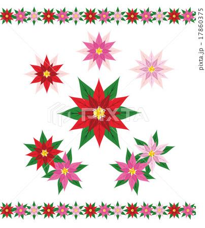 ポインセチア(赤系)パターン 17860375