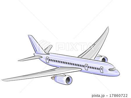 飛行機旅客機のイラストのイラスト素材 17860722 Pixta