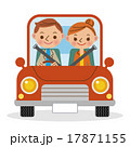 マイカーでドライブを楽しむ夫婦・カップル 17871155