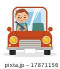 マイカーでドライブを楽しむ男性 17871156