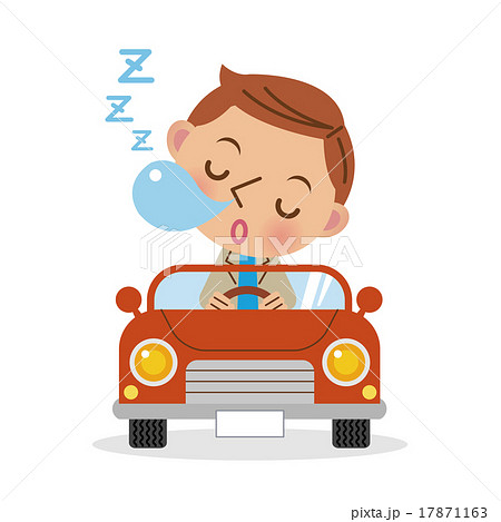 居眠り運転イメージ(デフォルメ) 17871163