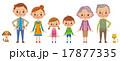 3世代家族とペット2匹 17877335