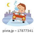 居眠り運転イメージ(背景有り) 17877341