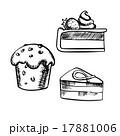 Chocolate cake, cupcake and cheesecake 17881006