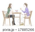 カフェ 女性 会話のイラスト 17885266