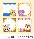 動物 赤ちゃん フレームのイラスト 17887475