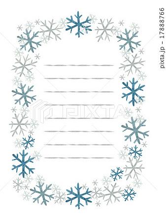 便せん 冬 雪罫線ありのイラスト素材 17888766 Pixta