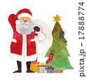 サンタ サンタクロース プレゼントのイラスト 17888774