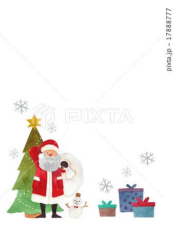 便せん クリスマス サンタのイラスト素材 17888777 Pixta