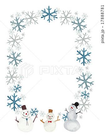 便せん 冬 雪だるまのイラスト素材 17888781 Pixta