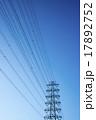 鉄塔 青空 電線の写真 17892752