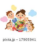 料理 家族 笑顔のイラスト 17905941