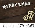 クリスマス 木目 オーナメントの写真 17914363