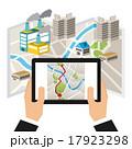 GPS ナビ ナビゲーションのイラスト 17923298