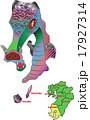 地図の動物 九州 鹿児島 龍 17927314