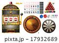 ギャンブル スロット スロットマシンのイラスト 17932689