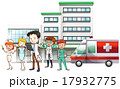 Doctors and nurse working at hospital 17932775
