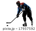 Ice hockey man player silhouette 17937592